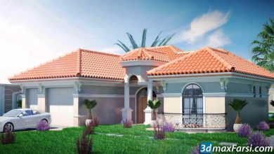 Photo of 3d visualization , 3ds Max ,v-ray ,ps 3D render the VILLA