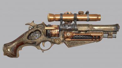 FlippedNormals – Steampunk Gun Game Asset in Blender Tutorial free download