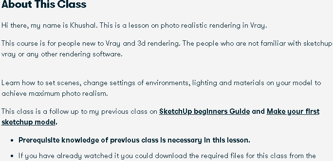 Realistic rendering course
