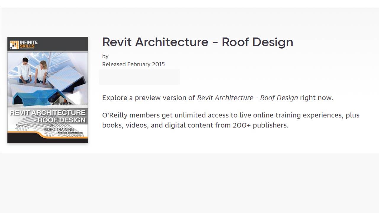 InfiniteSkills – Revit Architecture – Roof Design free download
