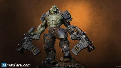 Photo of Orc Cyborg Character Creation in Zbrush