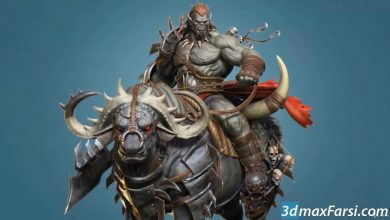 Photo of Orc Rider and Bull Creature Creation in Zbrush