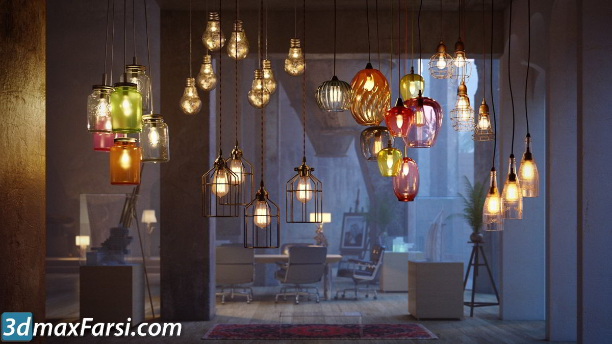 Evermotion - Archmodels Vol 184 free download sets of lamps models