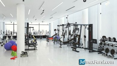 evermotion archmodels vol 169 gym equipment free download