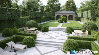 Evermotion – Archmodels vol.192 (hedges elements) free download