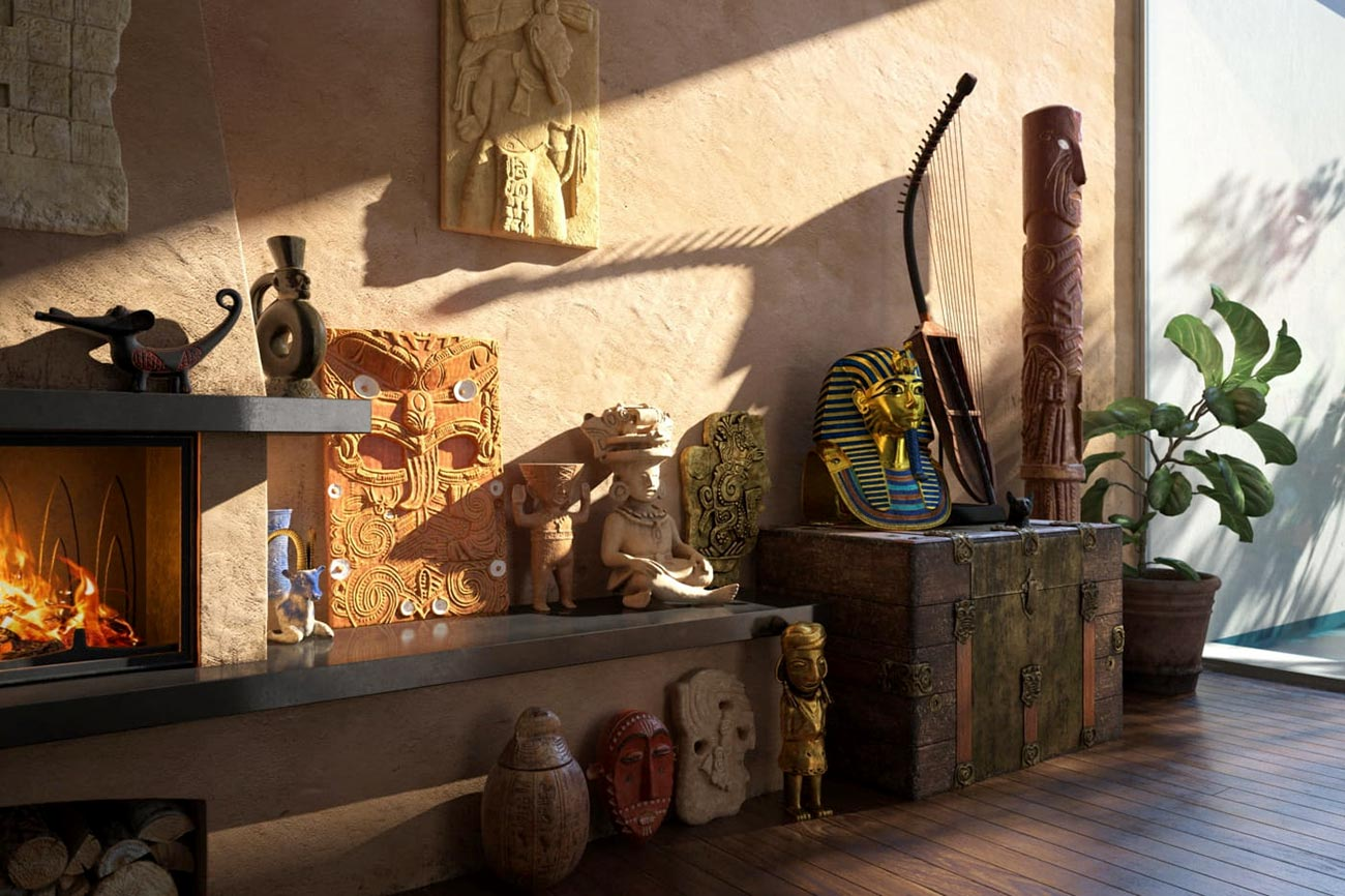 Evermotion – Archmodels Vol. 221 : exotic interior props free download