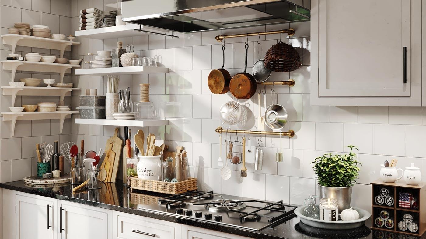 Evermotion – Archmodels Vol. 231 : kitchen interior (modern vintage) free download