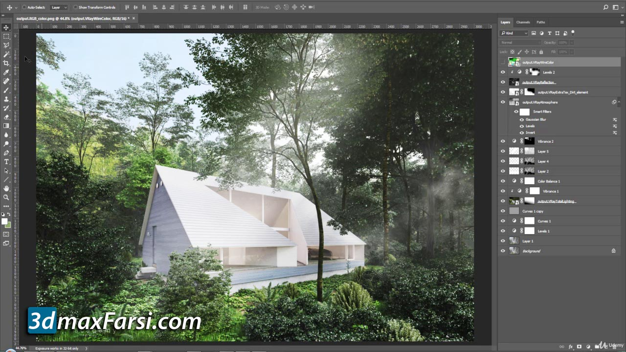 Udemy - Exterior 3D Rendering with 3ds Max + Vray free download