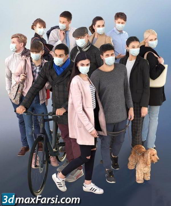 3D PEOPLE – 1012 Social Distancing Bundle free download