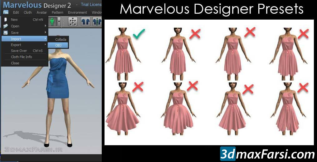 CGELVES – Marvelous Designer clothing patterns, Presets & Textures free download
