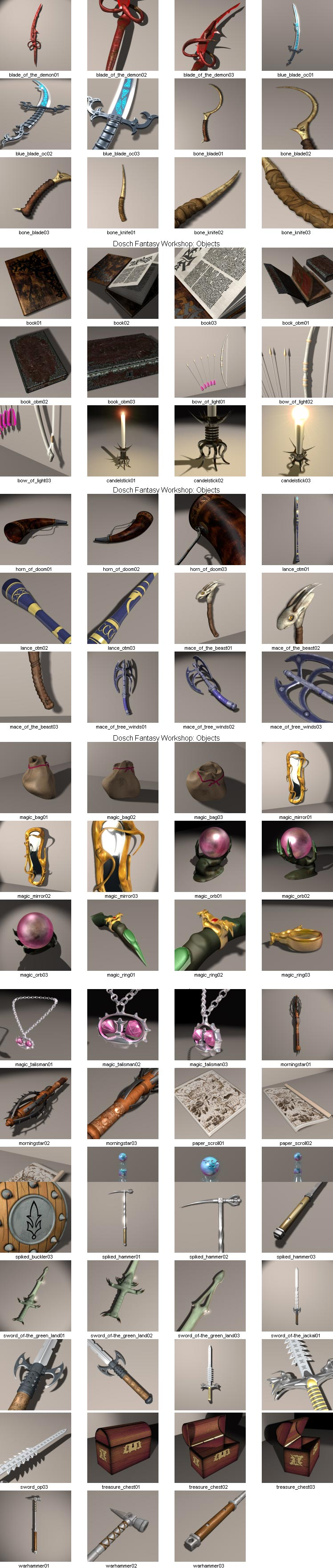 Dosch 3D Fantasy Objects Ancient Objects 3DS