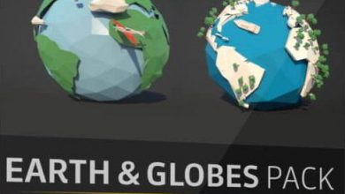 The Pixel Lab – Earth and Globe Pack: 50+ C4D Models