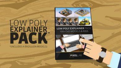 The Pixel Lab – C4D Low Poly Explainer Pack