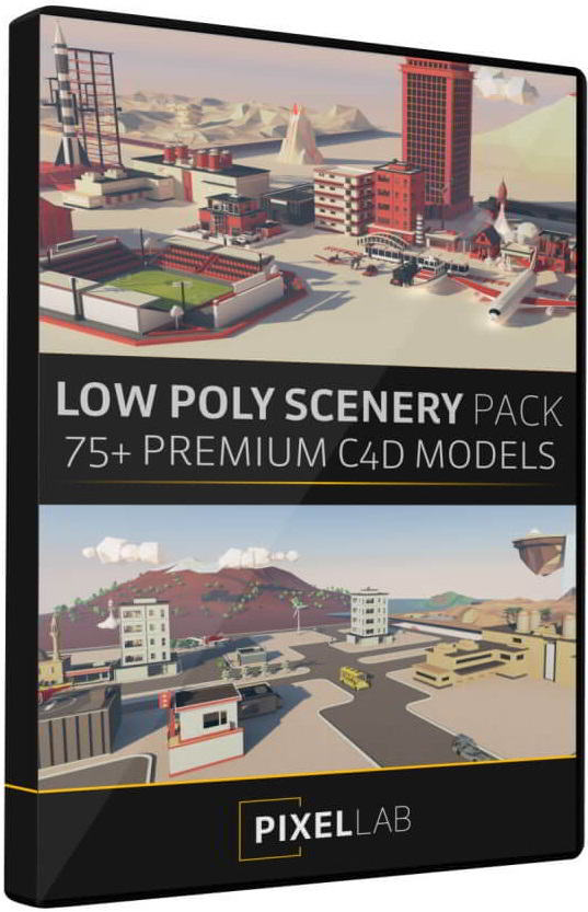 The Pixel Lab – Cinema 4D Low Poly Scenery Pack free download