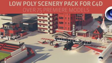 The Pixel Lab – Cinema 4D Low Poly Scenery Pack