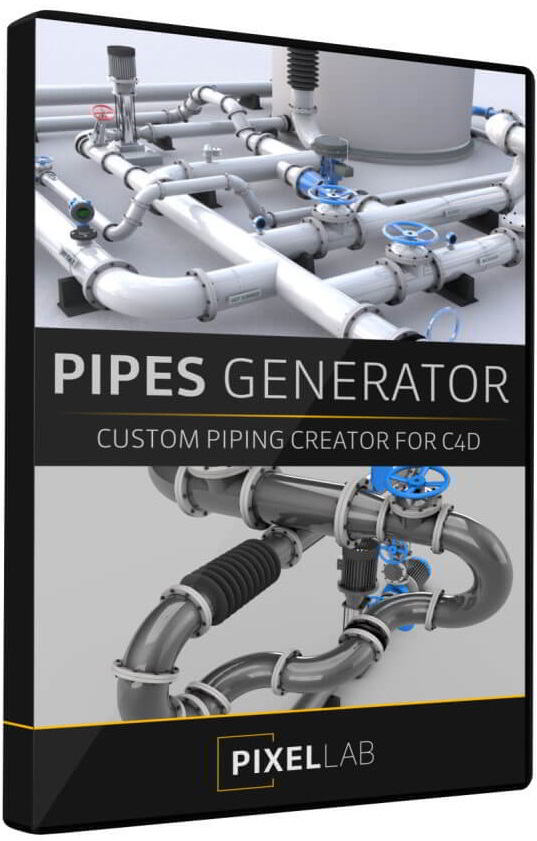 The Pixel Lab – Announcing the Pipes Generator for Cinema 4D free download