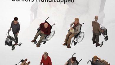 Dosch Viz-Images: Bird Eye People - Seniors Handicapped