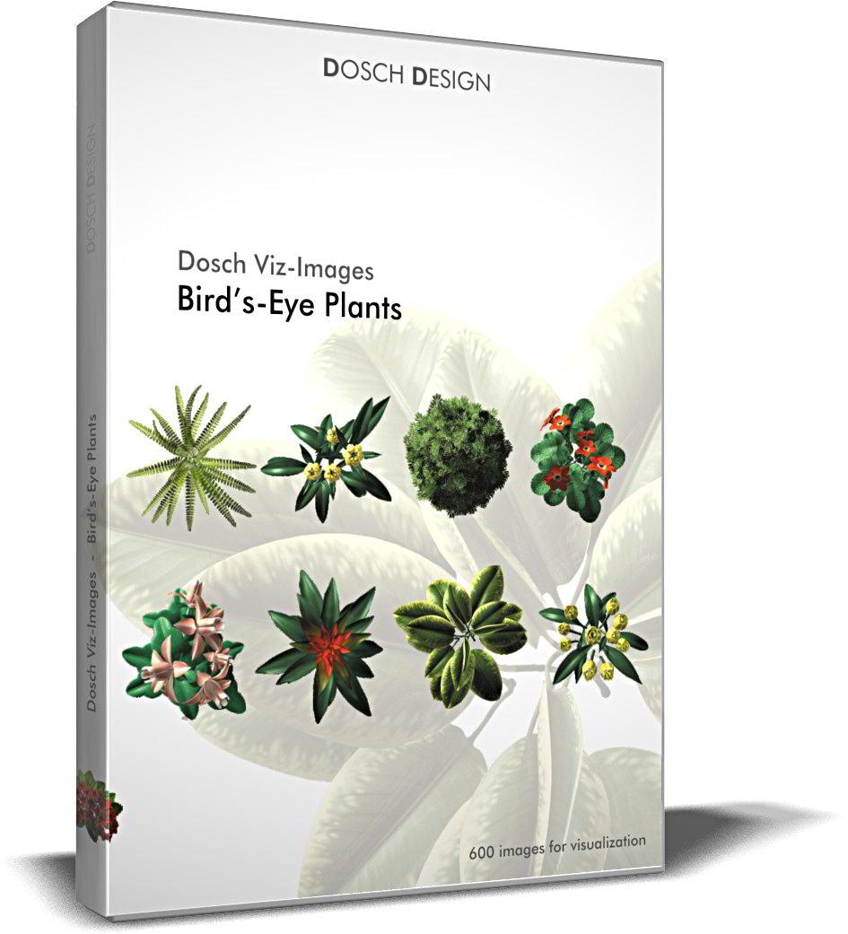 Dosch Viz-Images: Bird's Eye Plants free download : JPG, PNG, PSD, TIF