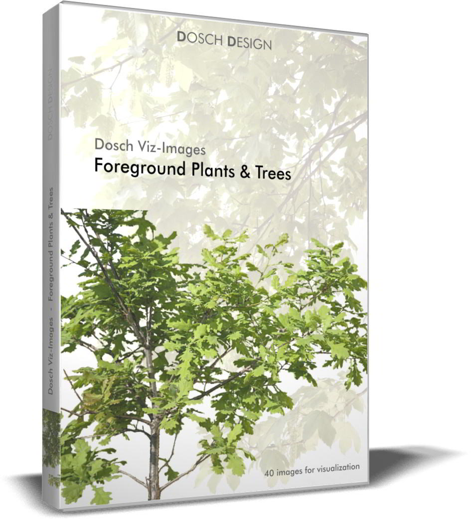 Dosch Viz-Images: Foreground Plants & Trees free download : JPG, PSD (Photoshop), TIF