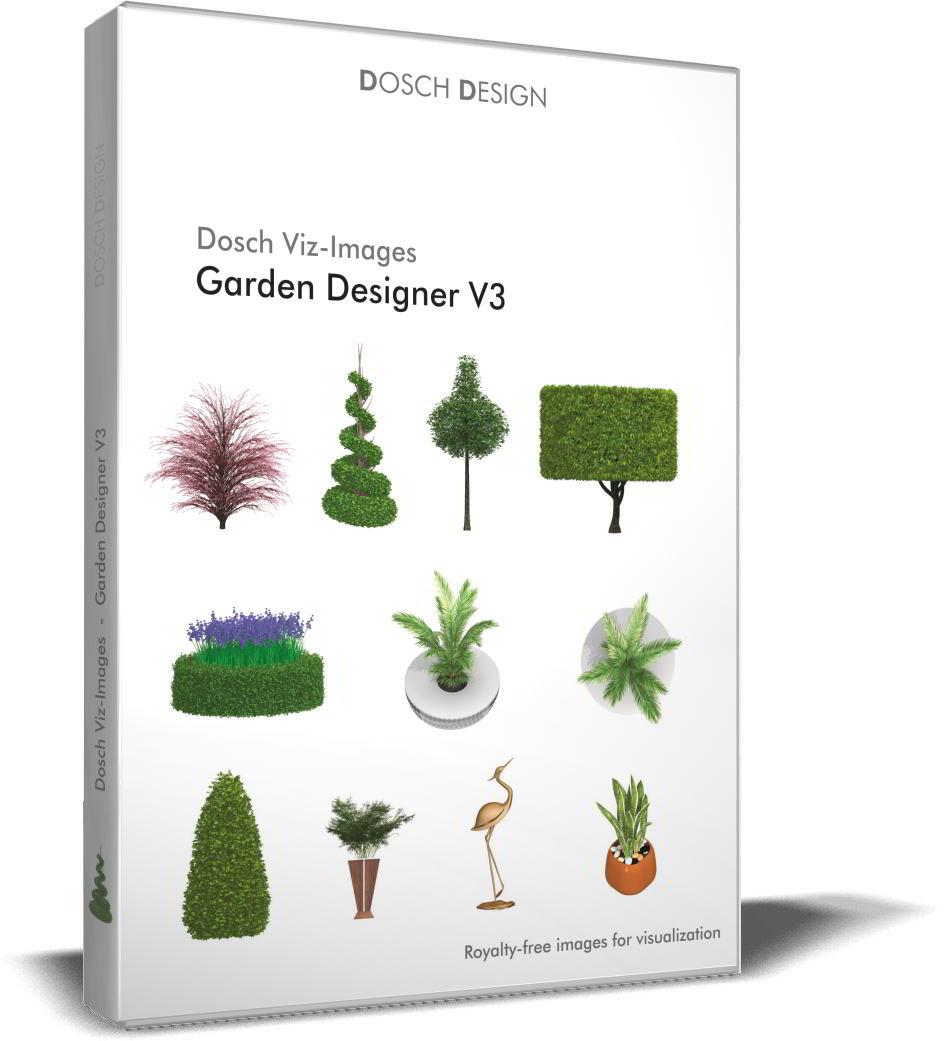 Dosch Viz-Images: Garden Designer V3 free download : PNG, PSD (Photoshop)