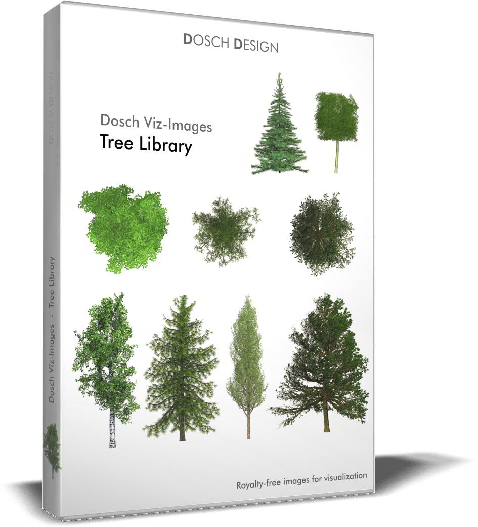 Dosch Viz-Images: Tree Library free download : PNG, PSD (Photoshop)
