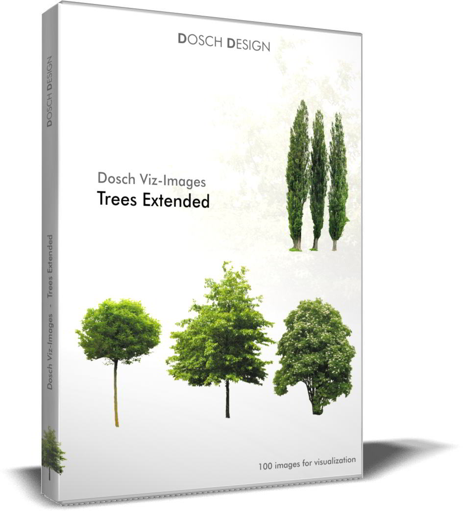 Dosch Viz-Images: Trees Extended free download : JPG, PNG, PSD (Photoshop), TIF