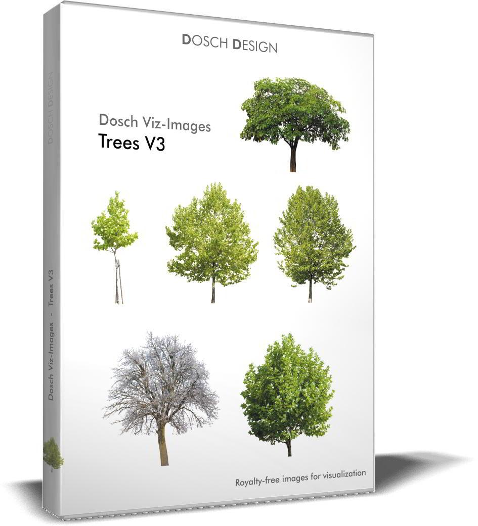 Dosch Viz-Images: Trees V3 free download : JPG, PNG, PSD (Photoshop), TIF