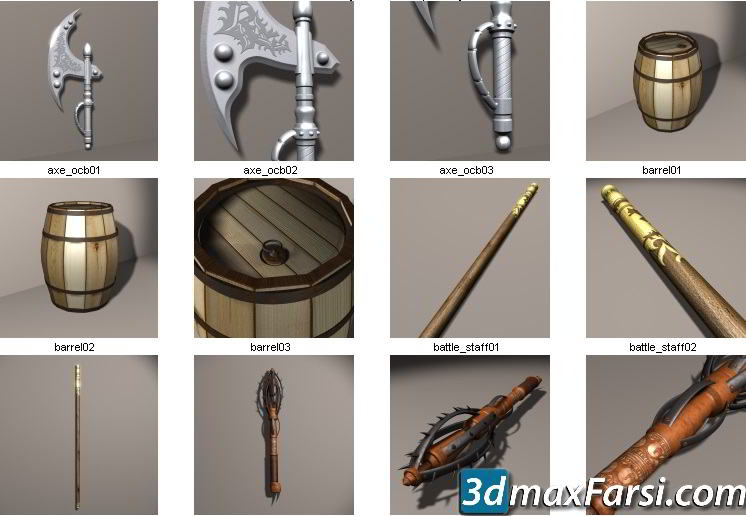 Dosch 3D Fantasy Objects Ancient Objects 3DS free download