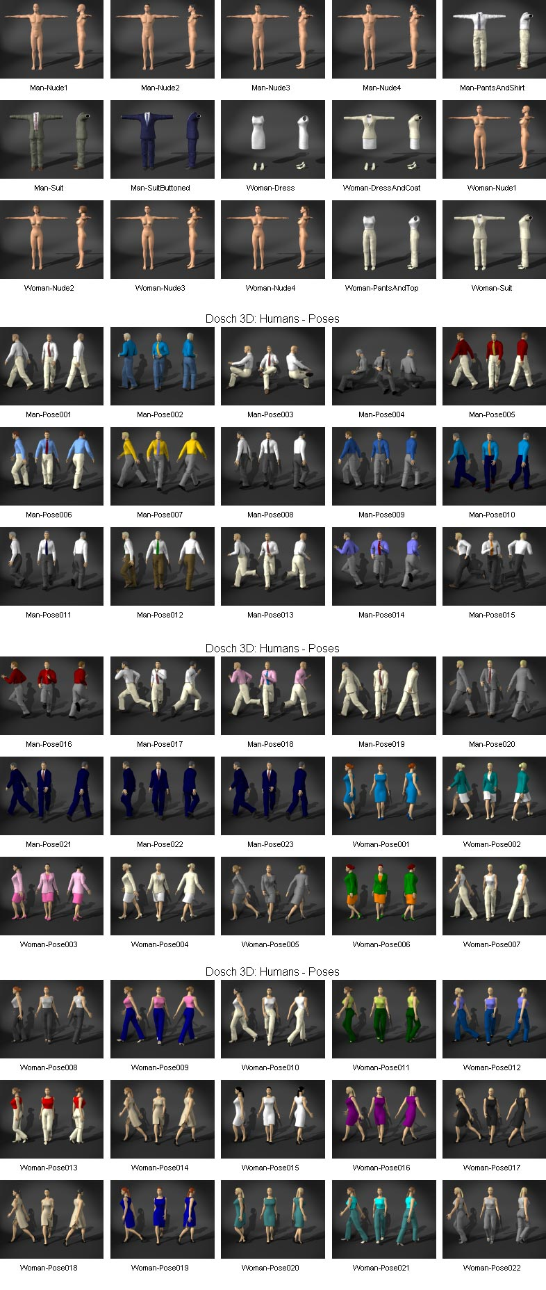 Dosch 3D Humans 3ds max vray