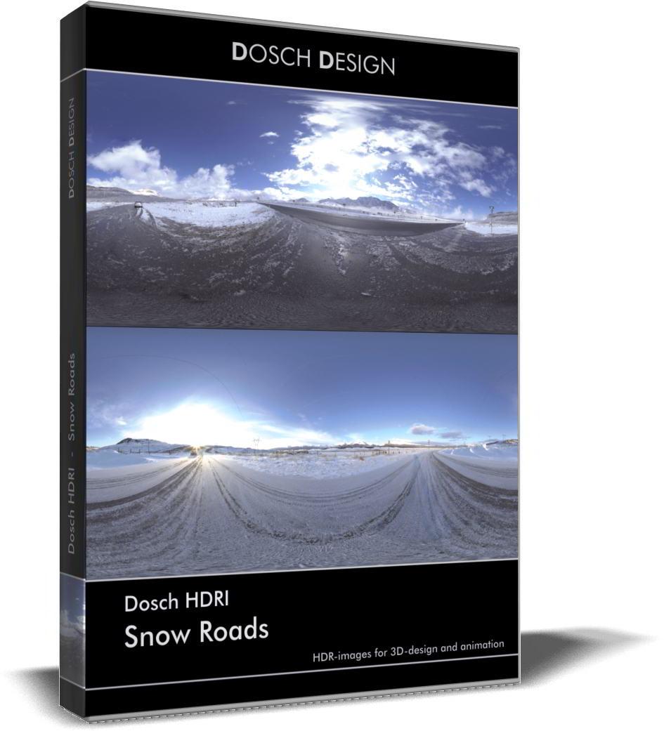 Dosch HDRI: Snow Roads free download