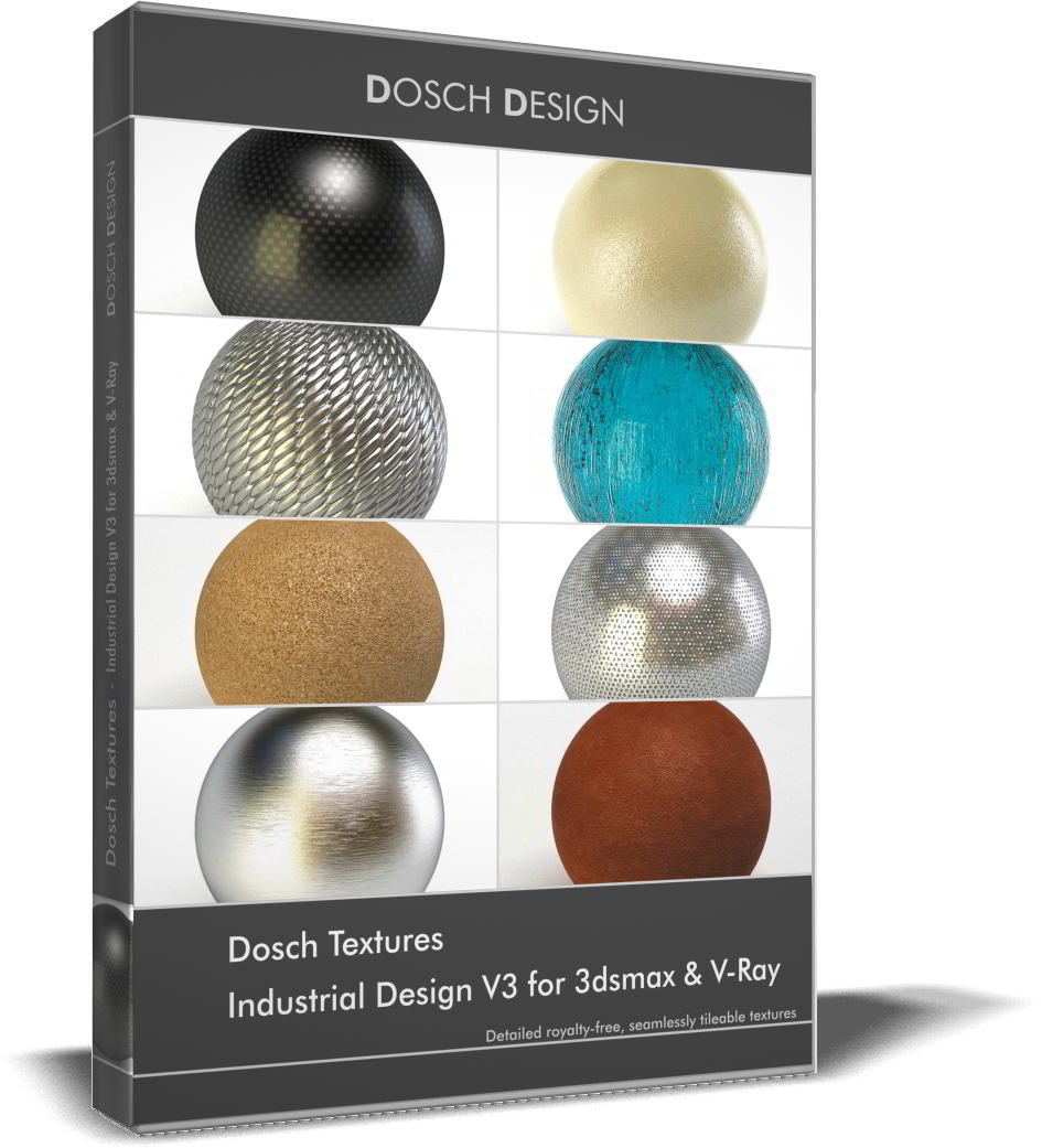 Dosch Textures: Industrial Design V3 for 3dsmax & V-Ray free download