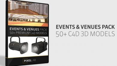 Events and Venues Pack: Over 50 C4D Models