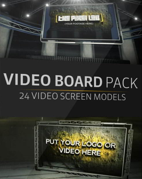 The Pixel Lab – Introducing the 3D Video Board Pack free download