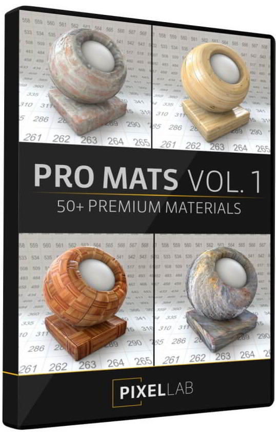 The Pixel Lab – Pro Mats Vol. 1 Material Pack free download