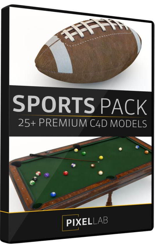 The Pixel Lab – Sports Pack: 30 C4D Models free download