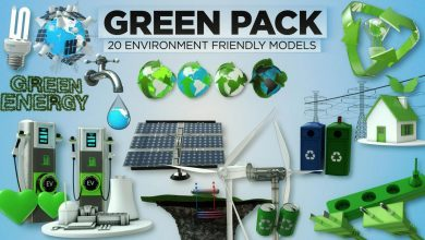 The Pixel Lab – 3D Green Pack