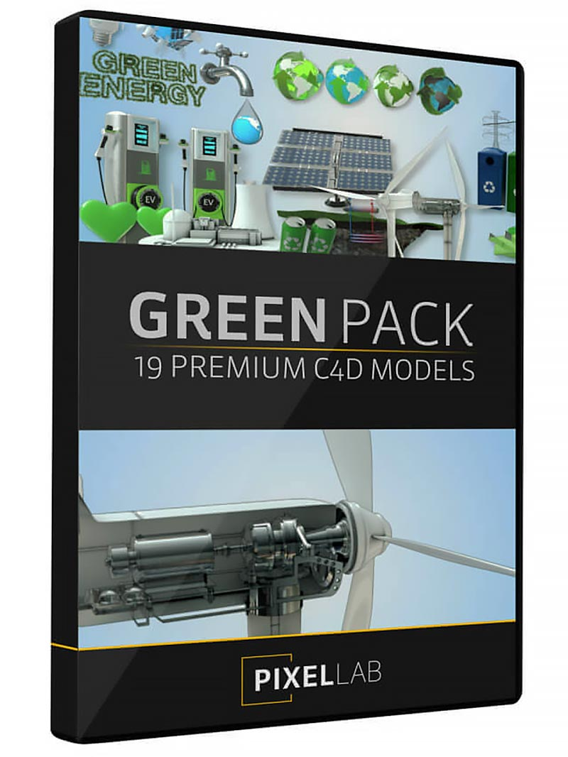 The Pixel Lab – 3D Green Pack free download