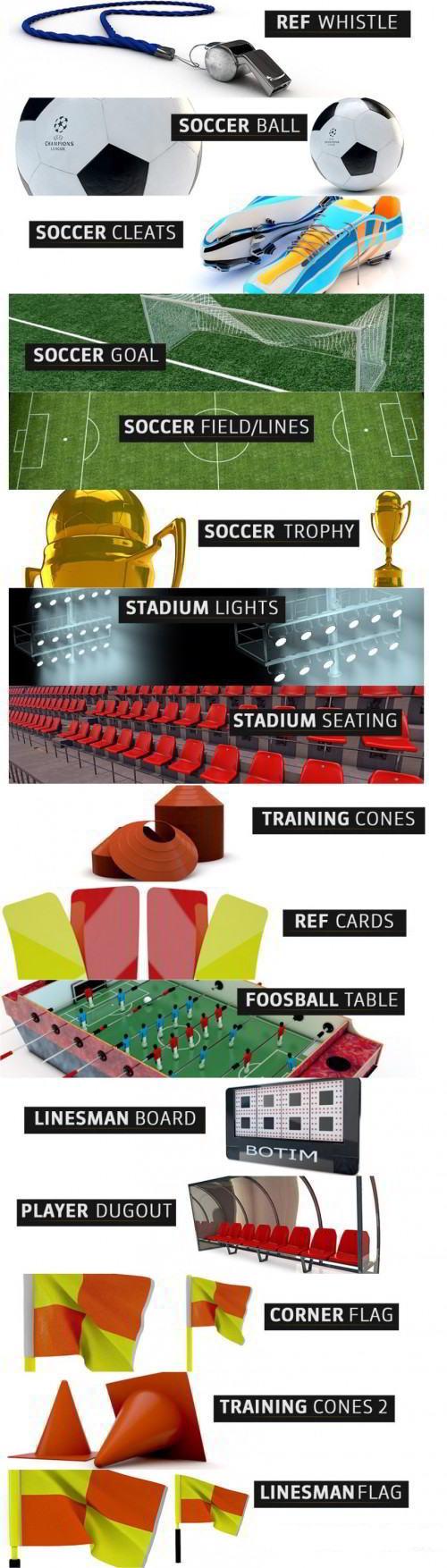 The Pixel Lab – 3D Soccer Pack