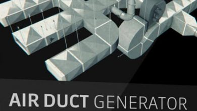 The Pixel Lab – Air Duct Generator for Cinema 4D – 85+ Components