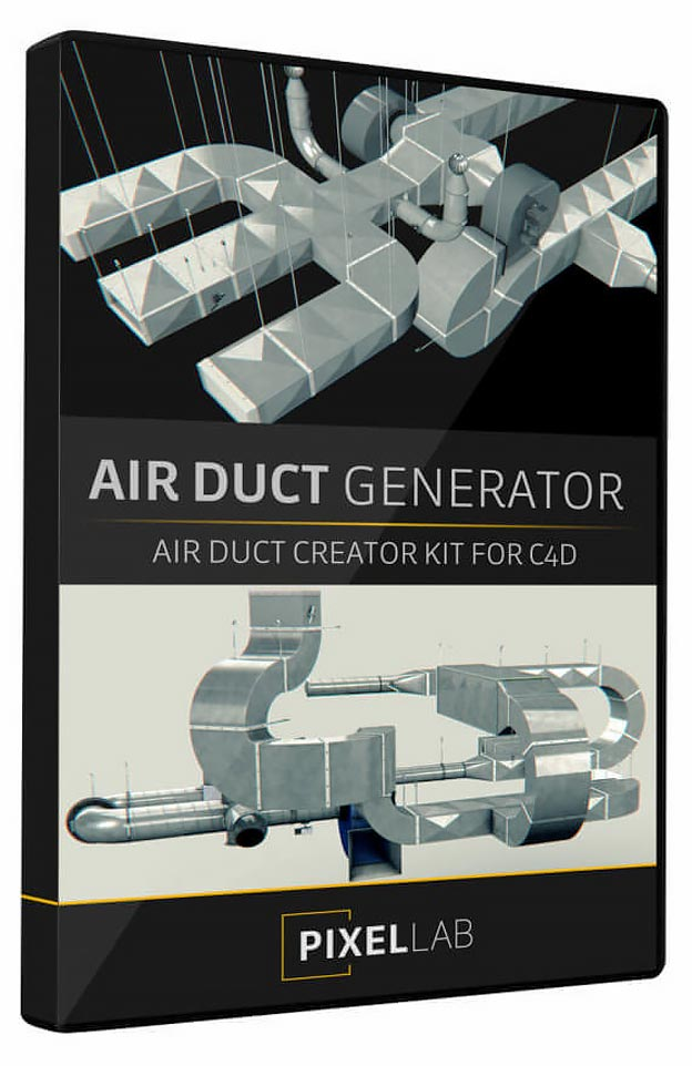 The Pixel Lab – Air Duct Generator for Cinema 4D – 85+ Components free download