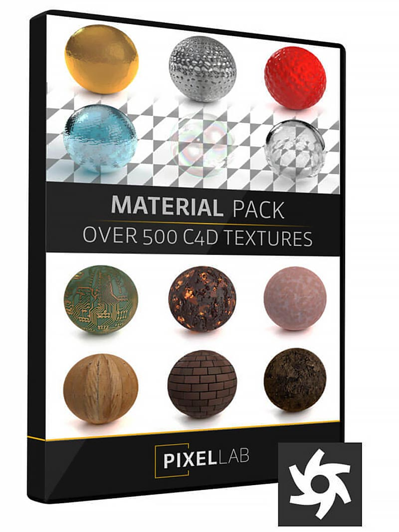 The Pixel Lab Material Pack for Octane Cinema 4D free download