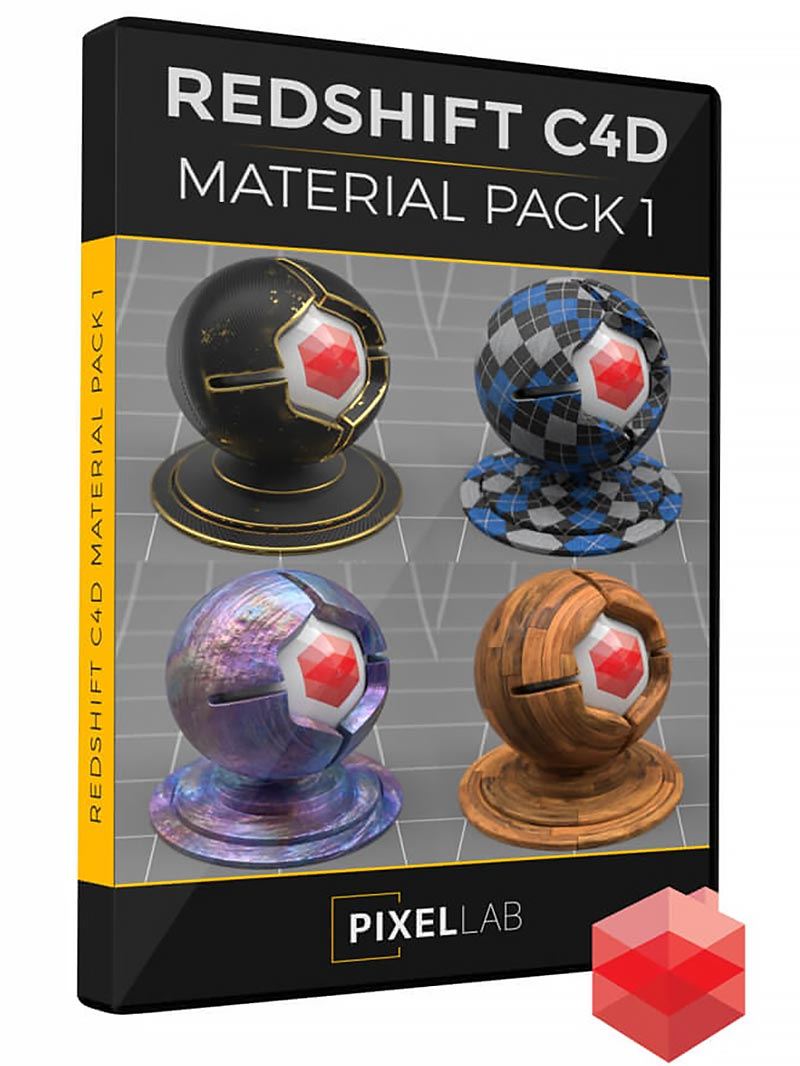 The Pixel Lab – Redshift C4D Material Pack free download