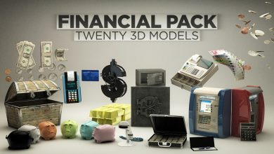 The Pixel Lab – Financial Pack for Cinema4D
