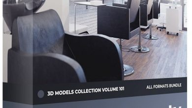 CGAxis Beauty Salon 3D Models Collection Volume 101 free download