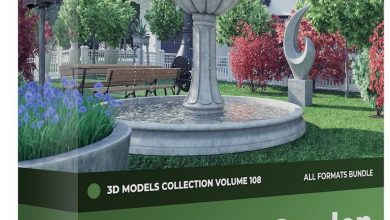 CGAxis – Garden Decorations 3D Models Collection – Volume 108 free download