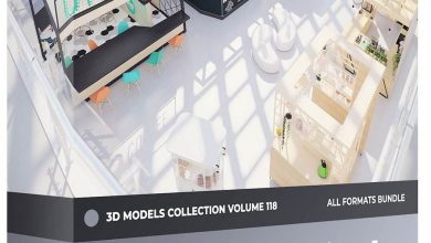 CGAxis – Kiosks & Stalls 3D Models Collection – Volume 118 free download