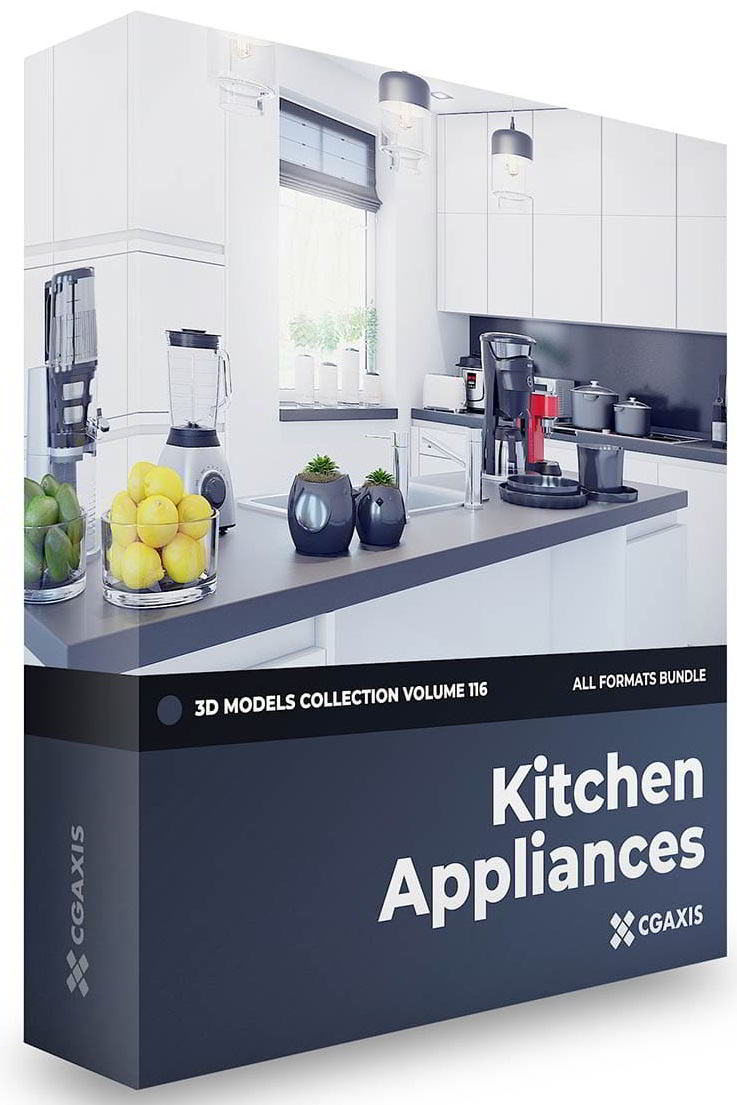 CGAxis Kitchen Appliances 3D Models Collection Volume 116 free download