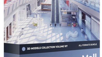 CGAxis – Mall Equipment 3D Models Collection – Volume 107 free download