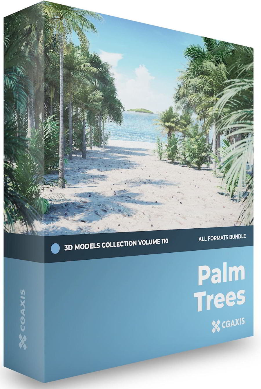 CGAxis – Palm Trees 3D Models Collection – Volume 110 free download