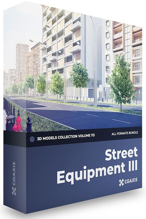 CGAxis – Street Equipment III 3D Models Collection – Volume 113 free download